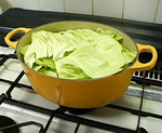 キャベツの重ね煮/調理前